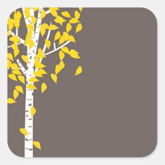 Fall Autumn Aspen Tree Sticker