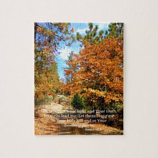 Fall Autumn Christian Scripture Bible Verse Jigsaw Puzzle