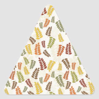 Fall Autumn Harvest Branches Leaves Twigs Pattern Triangle Sticker