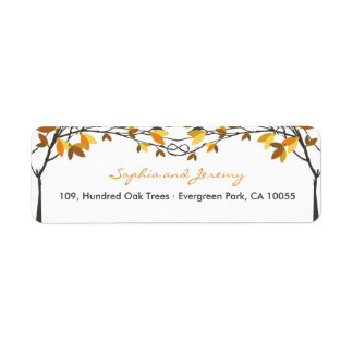 Fall Autumn Knotted Love Trees Wedding Labels
