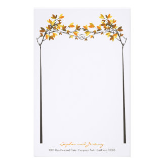 Fall Autumn Knotted Love Trees Wedding Stationery