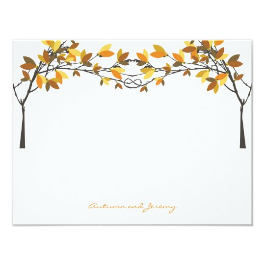 Fall Autumn Knotted Love Trees Wedding Thank You