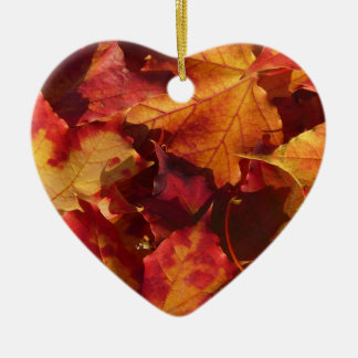 Fall Autumn Leaves Christmas Ornament