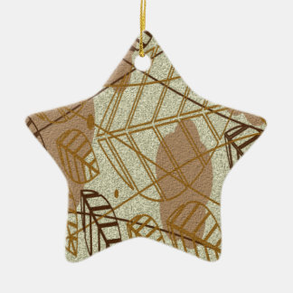 Fall Autumn Leaves Flower Floral Brown Tan Pattern Christmas Ornament
