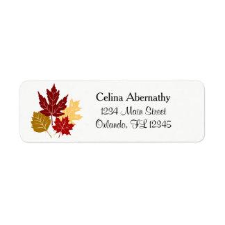Fall Autumn Leaves Return Address Label