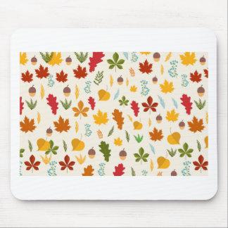 Fall Autumn leaves Seasonal decoritive thankgiving Mouse Pad