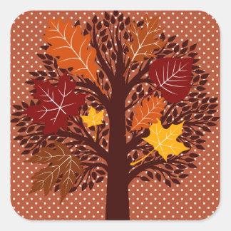 Fall Autumn Leaves Tree November Harvest Sticker