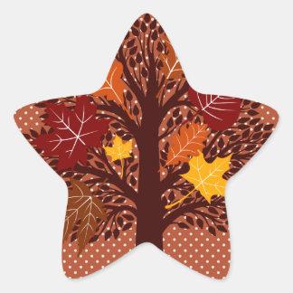 Fall Autumn Leaves Tree November Harvest Stickers
