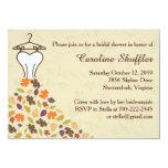Fall Autumn Leaves Wedding Dress Bridal Shower 11 Cm X 16 Cm Invitation Card
