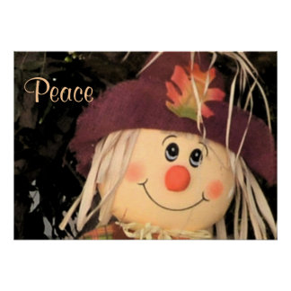 Fall Autumn Scarecrow Peace Love Destiny Photo Poster