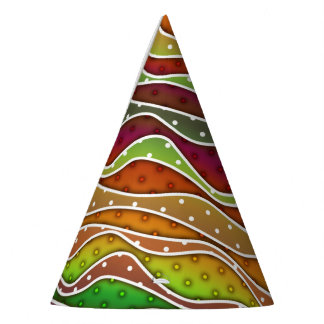 FALL AUTUMN STRIPES PARTY HAT