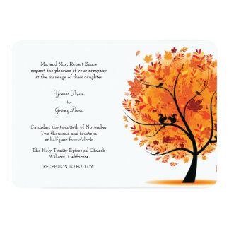 Fall / Autumn Tree Wedding Invitation