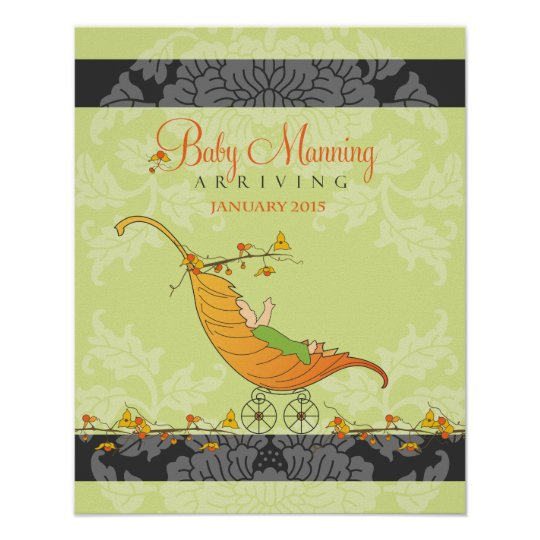 Fall Baby Shower   Baby shower guest book Print