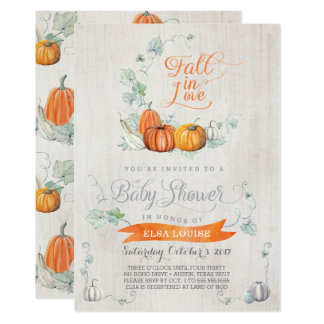 Fall Baby Shower Invitations - Autumn Pumpkins