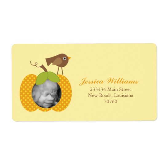 Fall Baby Shower Shipping Label