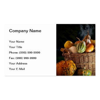 Fall basket pack of standard business cards