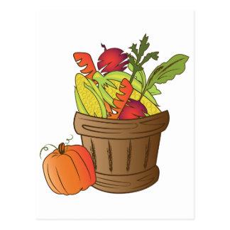 Fall Basket Postcard
