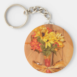 Fall Beauty in Flowers Keychains