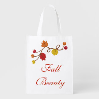 Fall Beauty Reusable Grocery Bag