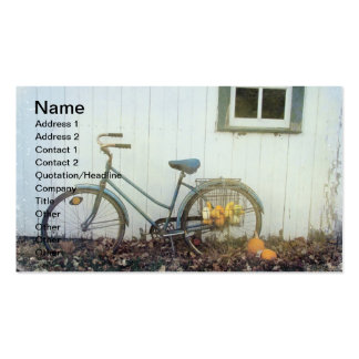 Fall Bicycle Pack Of Standard Business Cards