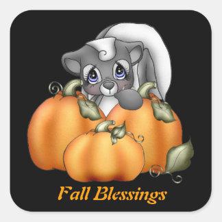 Fall Blessings Skunk sticker