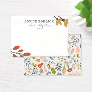 Fall Botanical Mommy Advice Cards
