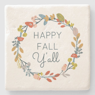 Fall Botanical Stone Coaster