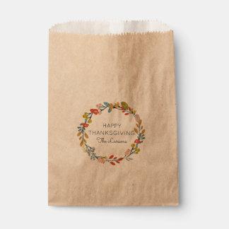 Fall Botanical Thanksgiving Favour Bags