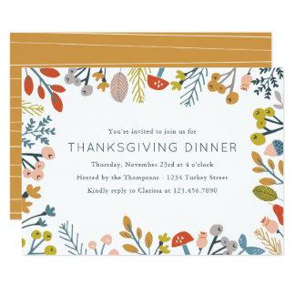 Fall Botanical Thanksgiving Invite