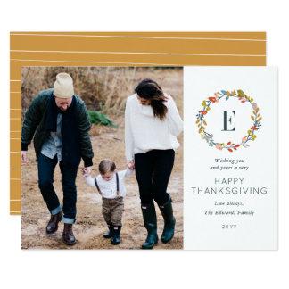 Fall Botanical Thanksgiving Photo Card