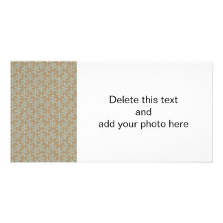 Fall Branches Pattern Customized Photo Card
