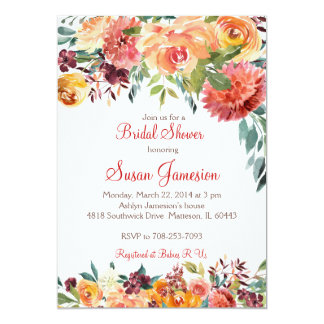 Fall Bridal Shower, baby shower Invitation