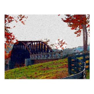 Fall Bridge Post Cards