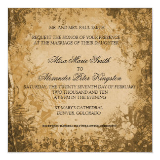 Fall Brown Autumn Wedding invitations