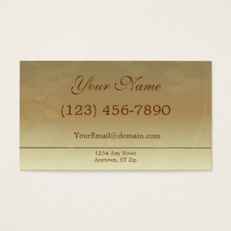 Fall Brown Business Card