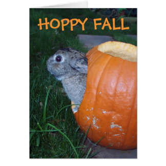 FALL BUNNY CARD