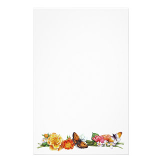 fall butterfly stationary customised stationery