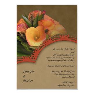 Fall Cala Lily Bouquet 13 Cm X 18 Cm Invitation Card