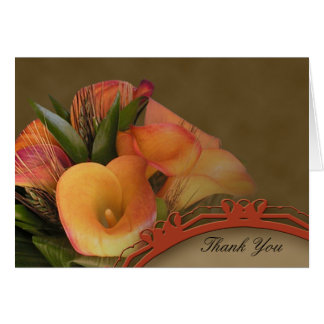Fall Cala Lily Thank You Greeting Card