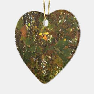 Fall Ceramic Heart Decoration