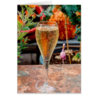 Fall Champagne Celebration Card