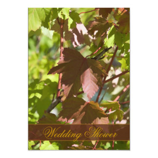 Fall Changing Leaves Couples Wedding Shower Invite