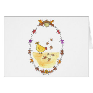 Fall Chicken With Border Card