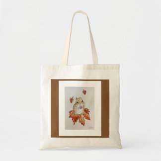 Fall Chipmunk Tote Bag