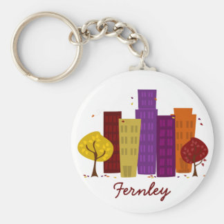 Fall Cityscape Key Chains