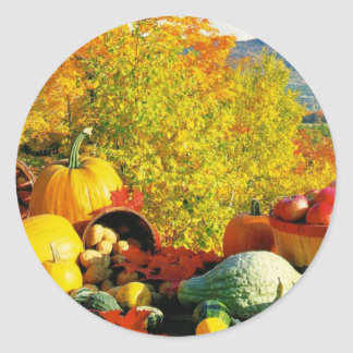 fall classic round sticker