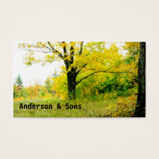 Fall Clean Up Business Card