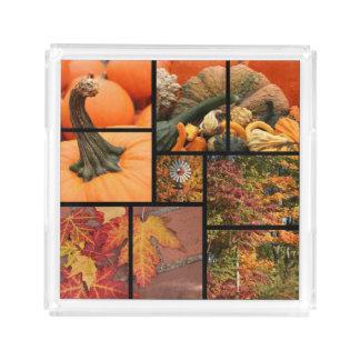 Fall Collage Acrylic Tray