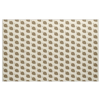 Fall Collection Beige Cream Brown Leaf Pattern Fabric