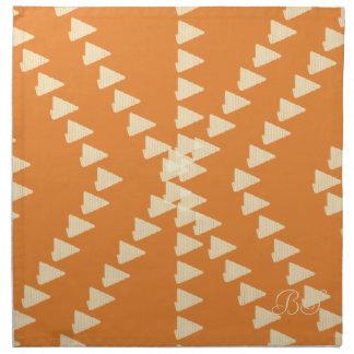 Fall Collection Bright Orange Pattern  Napkin